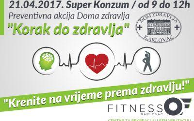 "Preventivna akcija Doma zdravlja Karlovac ""Korak do zdravlja"""
